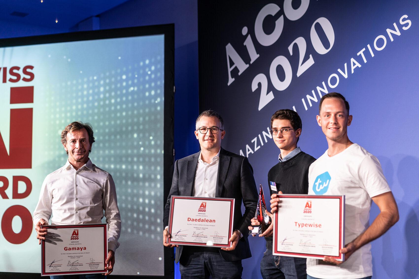 Daedalean sind die Gewinner des Swiss AI Awards 2020.